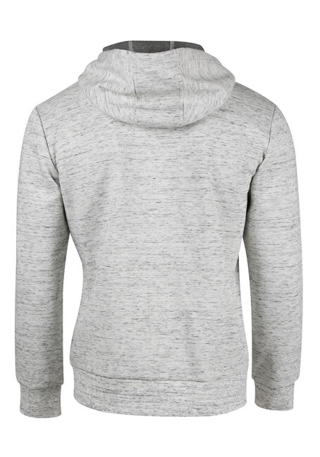 Men's Space Dye Hoodie, HEATHER GREY, hi-res
