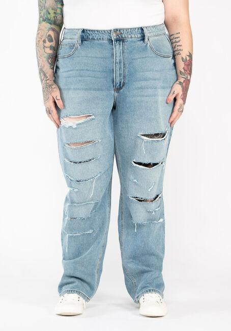Women's Plus Size High Rise 90's Boyfriend Jeans