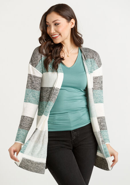 Women's Striped Cardigan