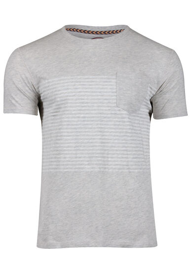 Men's Striped Tee, HEATHER GREY, hi-res