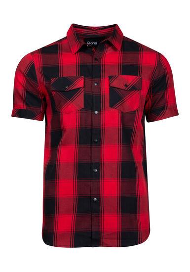 Men's Buffalo Plaid Shirt, RED, hi-res