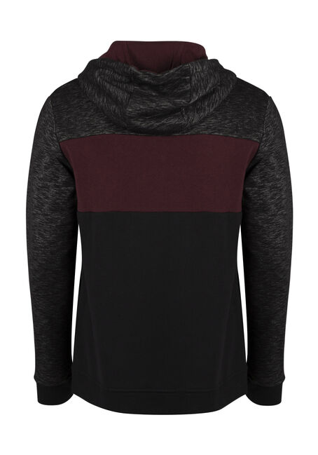 Men's Colour Block Hoodie, FIG, hi-res