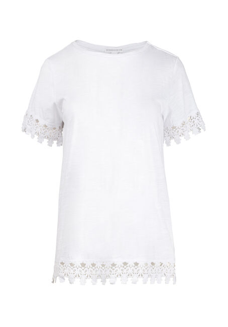 Women's Crochet Trim Tee