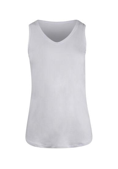 Women's V-neck Tank, WHITE, hi-res