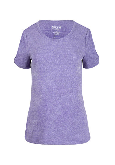 Women's Split Sleeve Tee, VIOLET, hi-res