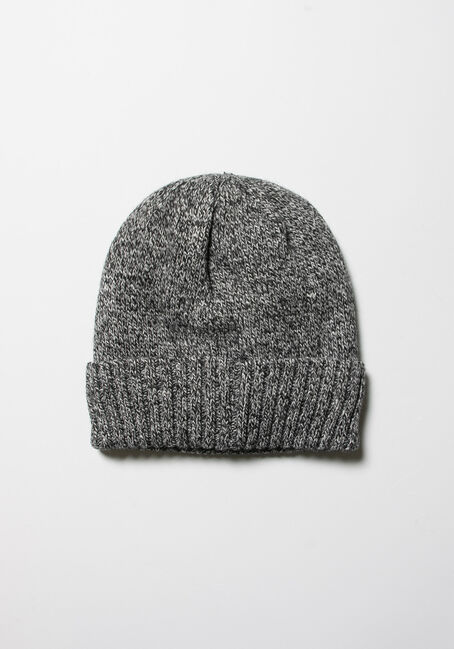 Men's Thermal Hat, BLACK MARLED, hi-res