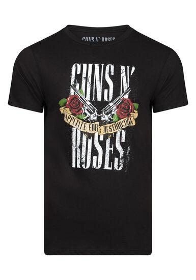 Men's Guns N' Roses Tee, BLACK, hi-res