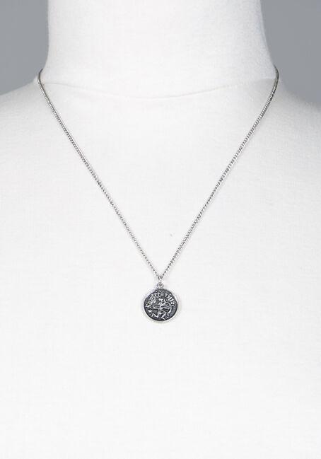 Sagittarius Pendant Necklace, SILVER, hi-res