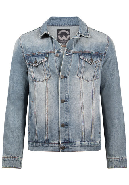 Men's Vintage Wash Denim Jacket