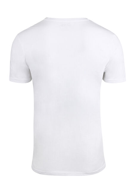 Men's Skull Tee, WHITE, hi-res