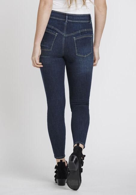 Women's Stacked Waist Skinny Jeans, DARK WASH, hi-res
