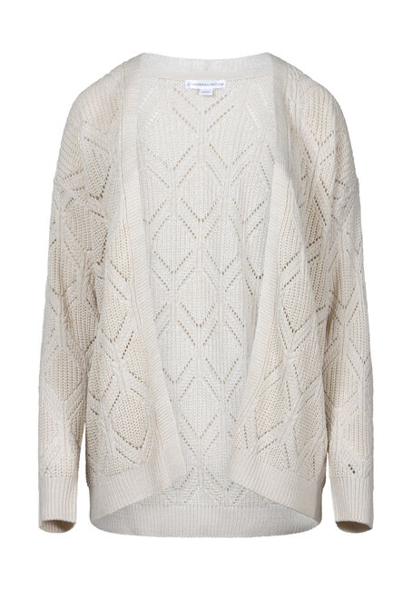 Women's Oversized Pointelle Cardigan