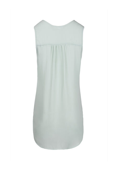Women's Pleat Front Tank, COOL MINT, hi-res