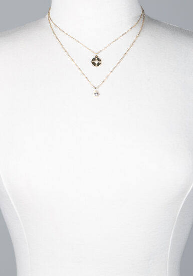 Women's adventure layered necklace, GOLD, hi-res