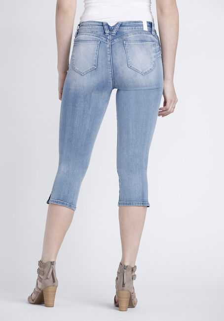 Women's High Rise Capri, LIGHT WASH, hi-res