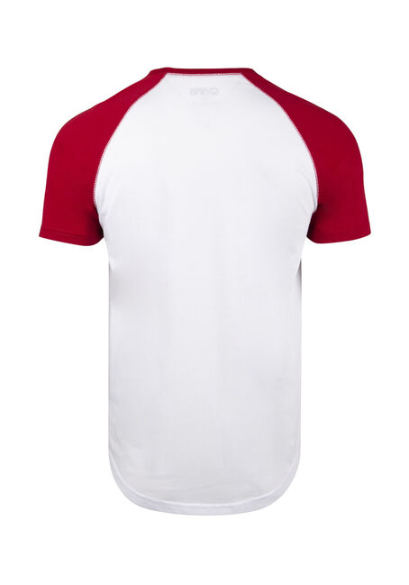 Men's Ginjas Baseball Tee, WHITE, hi-res