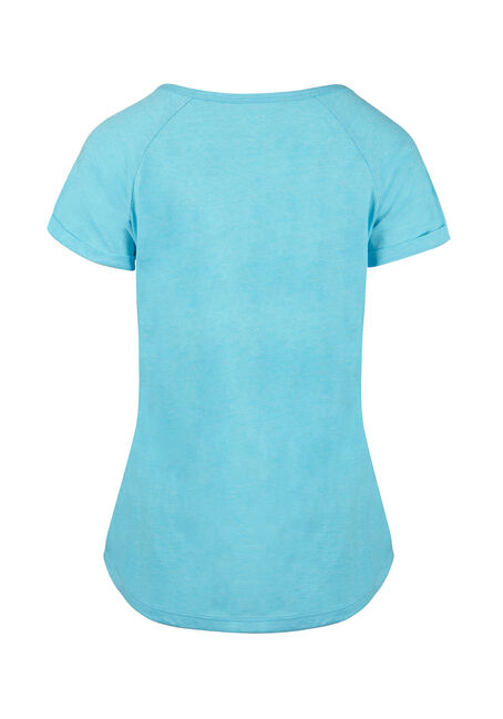 Ladies'  Notch Neck Tee, SD AQUA, hi-res