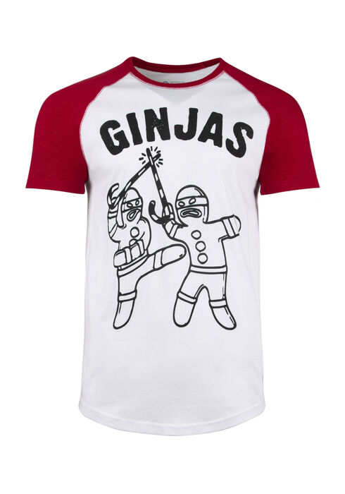 Men's Ginjas Baseball Tee, WHITE, hi-res