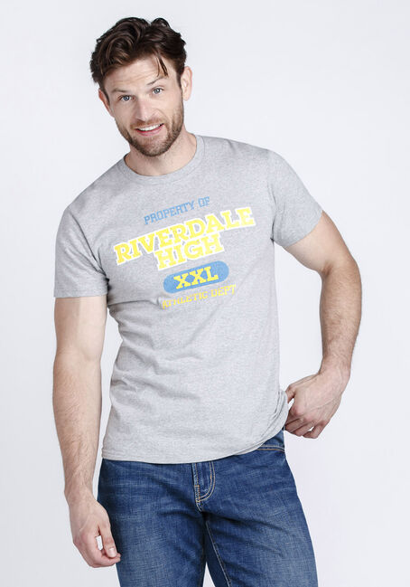 Men's Riverdale Tee, HEATHER GREY, hi-res