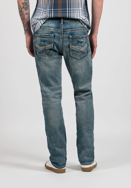 Men's Slim Straight Jeans, LIGHT WASH, hi-res