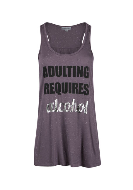 Ladies' Adulting Requires Alcohol Tank