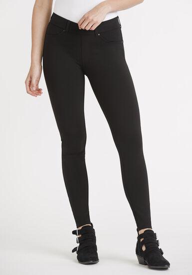 Women's 4 Pocket Pull On Legging, BLACK, hi-res
