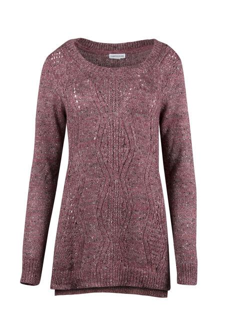 Ladies' Pointelle Tunic Sweater