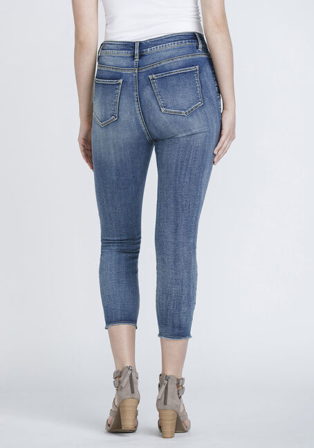 Women's High Rise Skinny Crop, DENIM, hi-res