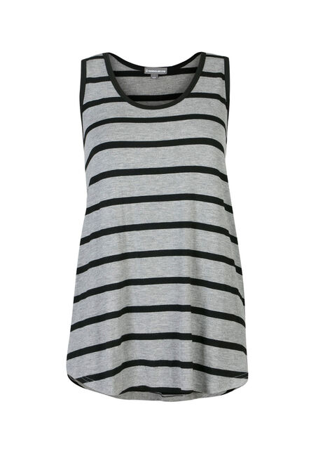 Ladies' Stripe Scoop Neck Tank