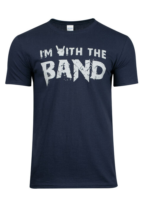 Men's I'm With The Band Tee, NAVY, hi-res