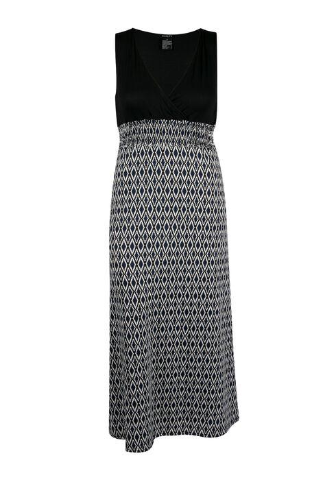 Ladies' Plus Size Mosaic Maxi Dress, NAVY BLACK, hi-res