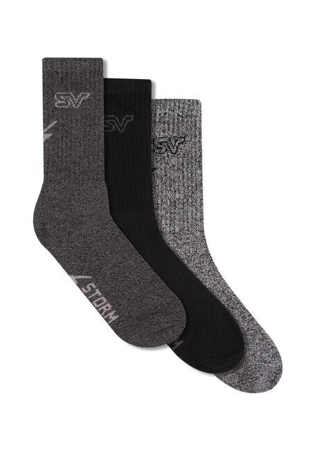 Men's 3 Pack Storm Valley Socks
