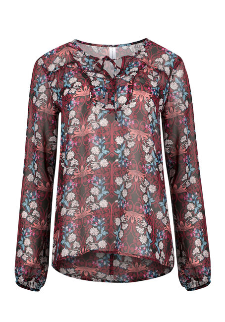 Ladies' Floral Peasant Top