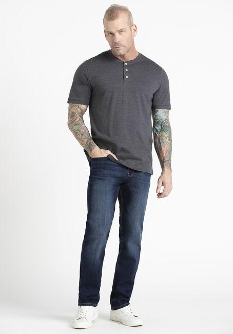 Men's Single Dye Henley Tee, SHADOW, hi-res