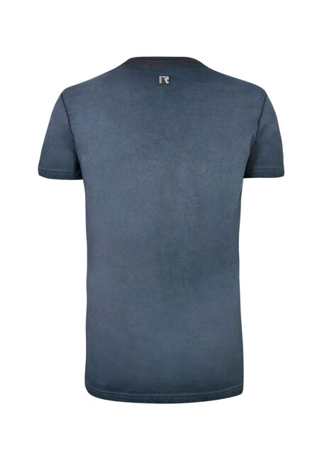 Men's V-neck Graphic Tee, BLUE, hi-res