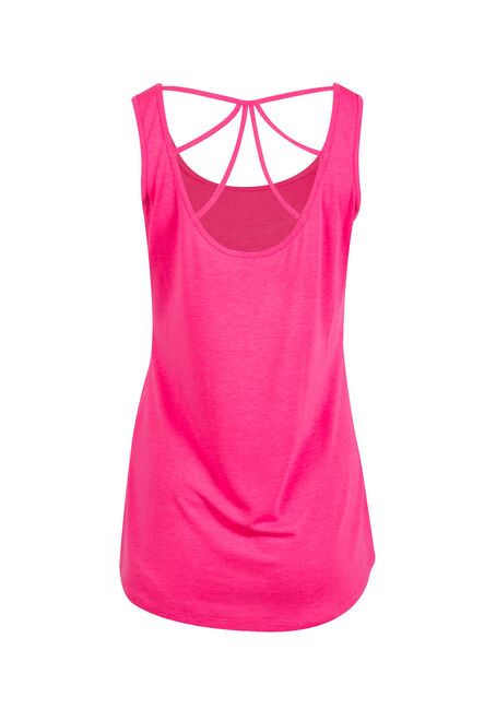 Women's Cage Back Tank, FLAMINGO, hi-res