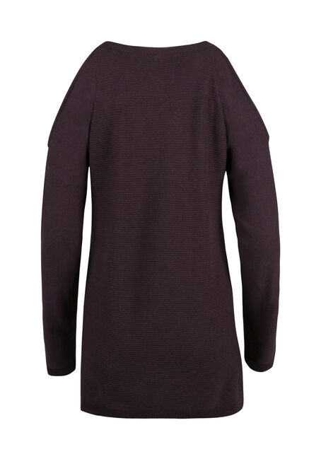 Ladies' Cold Shoulder Sweater, HORTENSIA, hi-res