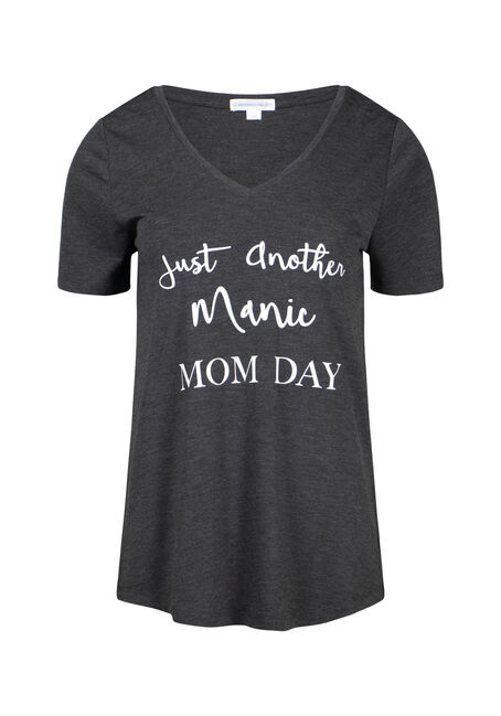 Women's Manic Momday V Neck Tee