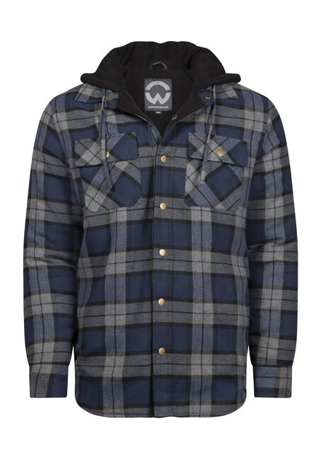 Men's Plaid Flannel Shirt Jacket