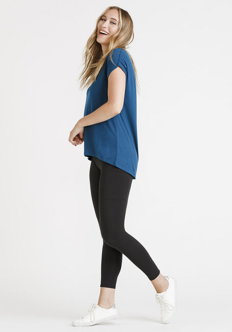 Women's Legging Tee, TEAL, hi-res