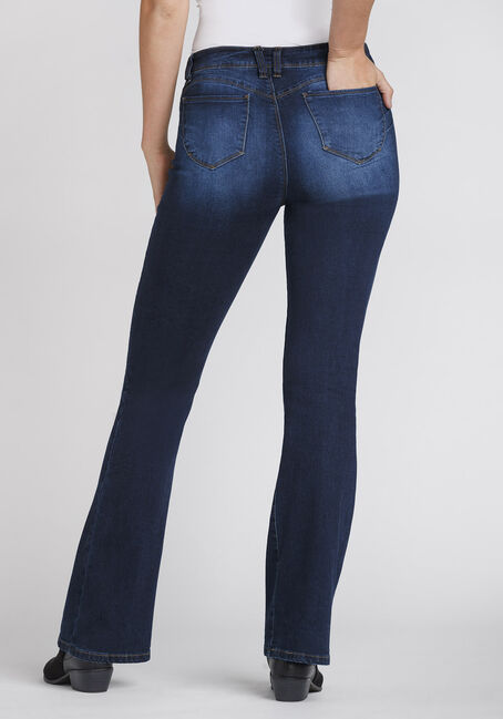 Women's Luxe Lift High Rise Flare Jeans, DARK WASH, hi-res