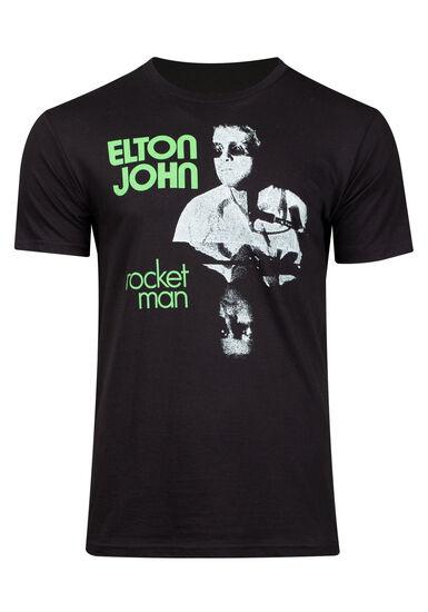 Men's Elton John Graphic Tee, BLACK, hi-res