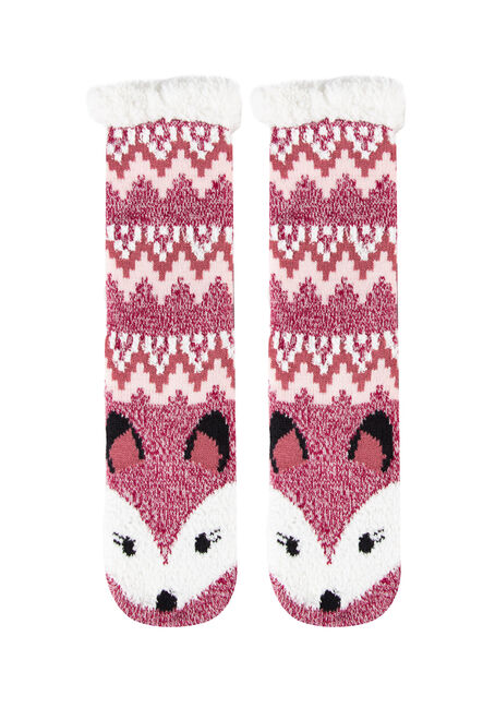 Women's Fox Slipper Socks