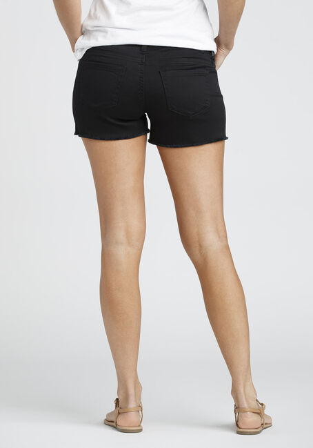 Ladies' Destroyed Not-So-Short Short, BLACK, hi-res