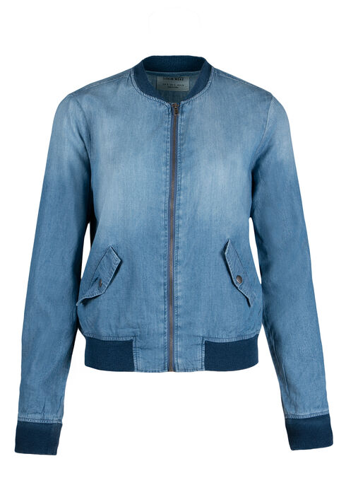 Ladies' Bomber Jacket, HEAVY VINTAGE, hi-res