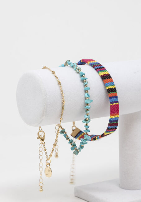 Turq Shell Anklet Set