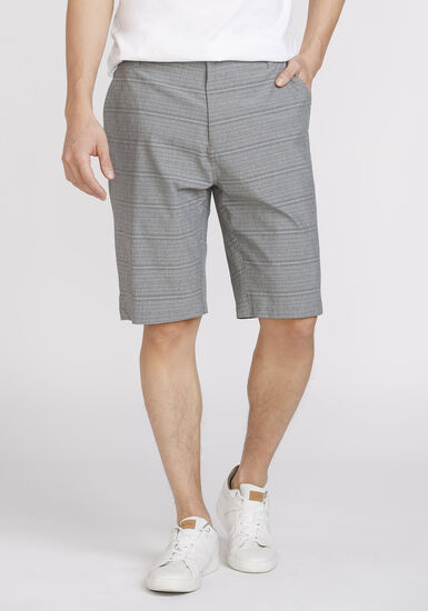 Men's Striped Hybrid Short, GREY, hi-res