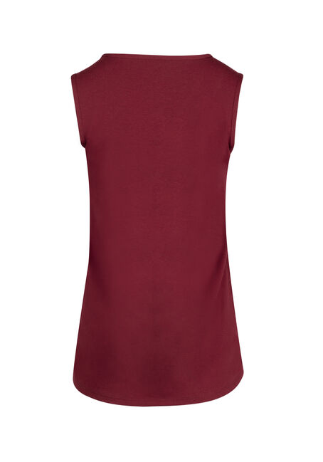 Ladies' Lace Trim Tank, CARDINAL, hi-res