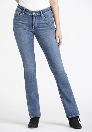 Women's Baby Boot Jeans, MEDIUM WASH, hi-res