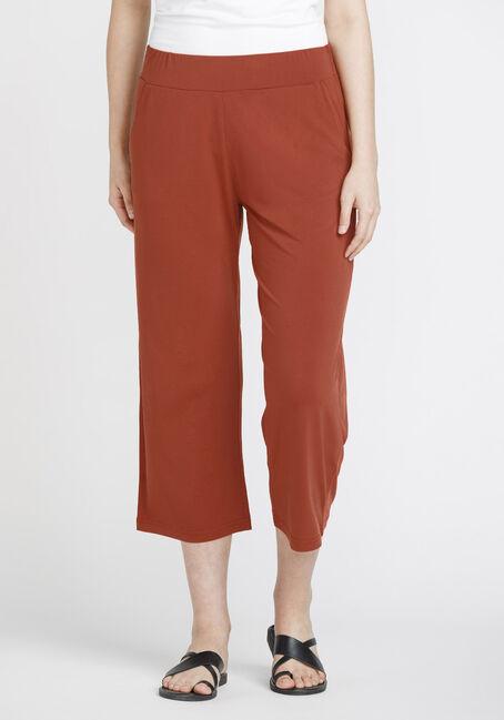 Women's Cropped Wide Leg Capri